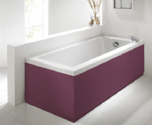 Luxury Burgundy 2 Peice Adjustable Bath Panel Set